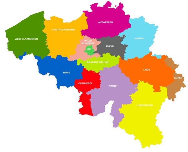 Pour Acceder Aux Coordonnees Et Au Propre Site Web Des Parquets Du Procureur Roi Il Vous Suffit De Cliquer Sur La Carte Ci Dessous